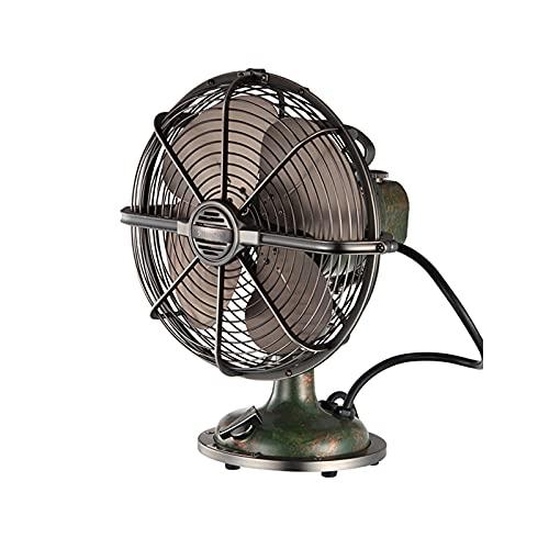 WMQ Ventilador eléctrico Retro de Metal, Estilo Industrial, Ventilador de Escritorio para el hogar, nostálgico, Ventilador de Mesa Vintage, 6-12 Pulgadas, con Cable de alimentación
