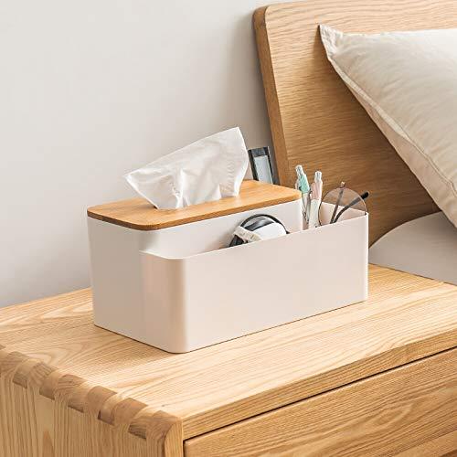 lxwi Tägliche Aufbewahrung Kreative Nordic Haushalt Multifunktionale Aufbewahrung Wohnzimmer Couchtisch Bambus Holz Servietten Schublade Tablett Integriertes Freifach