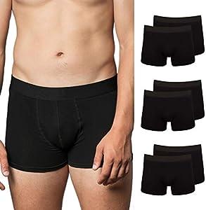 Snocks Calzoncillos Hombre Boxer Algodón (6X) Boxer Hombre Pack Negro Sin Logo, XL - Pack de 6 Ropa Interior
