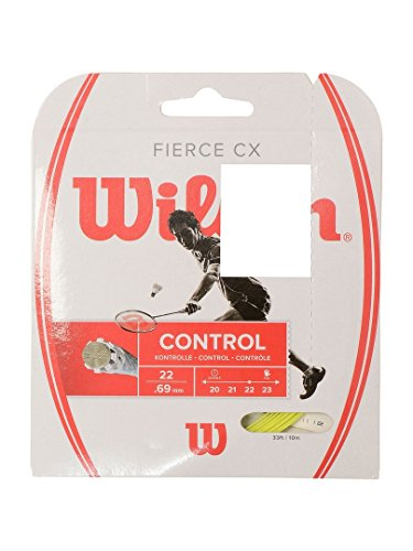 Wilson Badminton-Saite, Fierce CX, Multifilament, 10 Meter, Grün, 0,72 mm Dicke, WRR943400