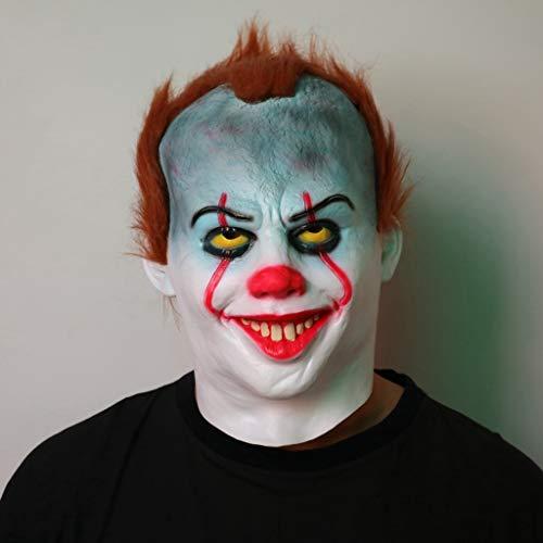 HS-ZM-06 Halloween Maske Blau Clown Kopfbedeckung Lustige Maske Terrorist Streich Requisiten Rollenspiele Zubehör Spukhaus Bar Party Dekoration Karneval Maske