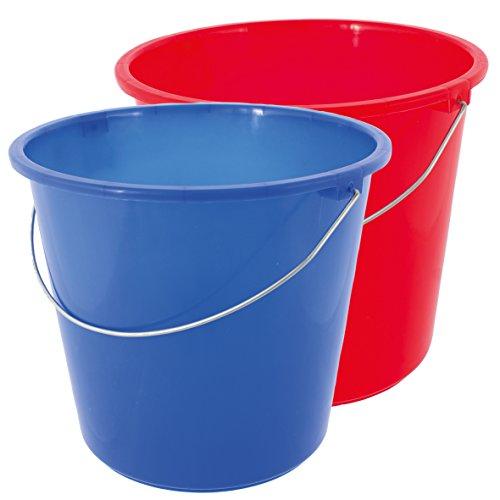 Lebensmittelecht Eimer 10 Liter PLASTIK KUNSTSTOFF WASSEREIMER HAUSHALTSEIMER PUTZEIMER