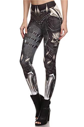 color cosplayer Steampunk Retro Comic Cosplay Women Leggings Print Polyester Trousers Pants (XL, KDK1627)