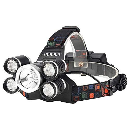 RMXMY Lampe de Poche Longue portée Rechargeable tête Longue Rechargeable éblouissement extérieur 5LED lumière de Travail lumière Phare Multifonction étanche