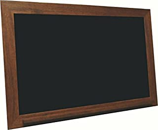 billyBoards 36X60 chalkboard. Vintage mahogany frame finish. School style. With chalk tray. Wood composite writing panel- black. 2.5