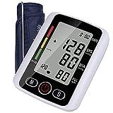 XXHH Tensiómetro De Brazo Digital Tensiómetro Aparato para medir la Tension Arterial Brazo Pantalla de arritmia para una medición precisa de la tensión Arterial y del Pulso con función de Memoria