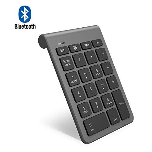 Bluetooth Ziffernblock, Arkidyn Ultra Dünn Kabellos Externer Nummernblock 22 Tasten Wireless Numpad für Laptop, Tablet, Notebook, PC, Desktop und mehr【Verbesserte Version】