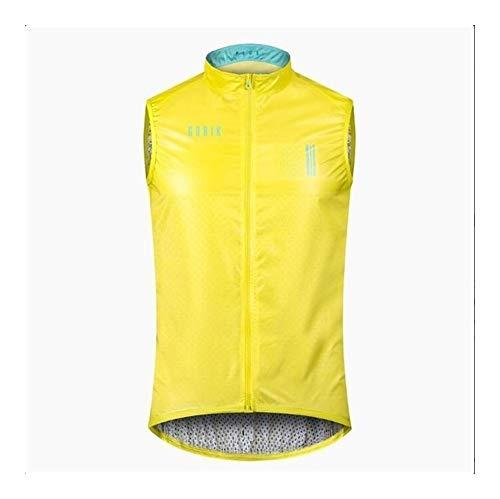 WGWNYN Courir Nouveau léger Coupe-Vent Gilet Black Sheep Cycling Wind Vest Out Wear Cycling Wind Vest Gilets réfléchissants (Color : Gold, Size : 3XL)