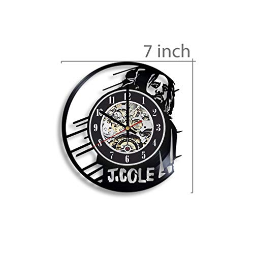 J. Cole Vinyl Record Wall Clock, J. Cole Music, J Cole Rapper, J Cole Artwork, J Cole Gift, J Cole Clock, Wall Decor, J Cole Singer, Music Art, j Cole Hip hop