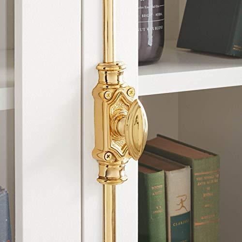 Signature Hardware 944578 Mini Barcheski 27 Inch Tall Brass Cremone Bolt Cabinet Latch