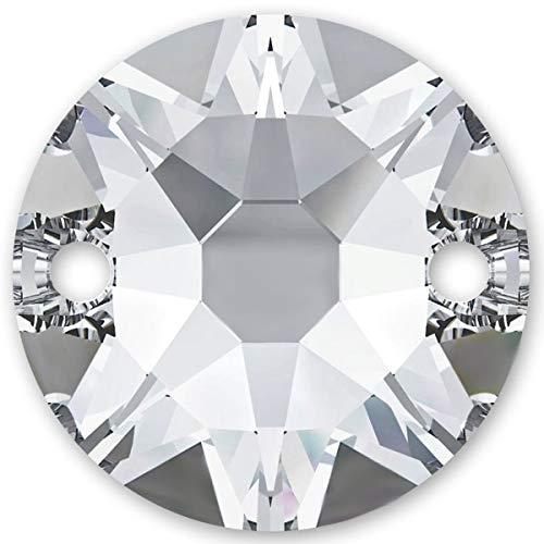 Swarovski 10 Stück Elements 3288, Crystal, 8 mm, Strasssteine zum Aufnähen