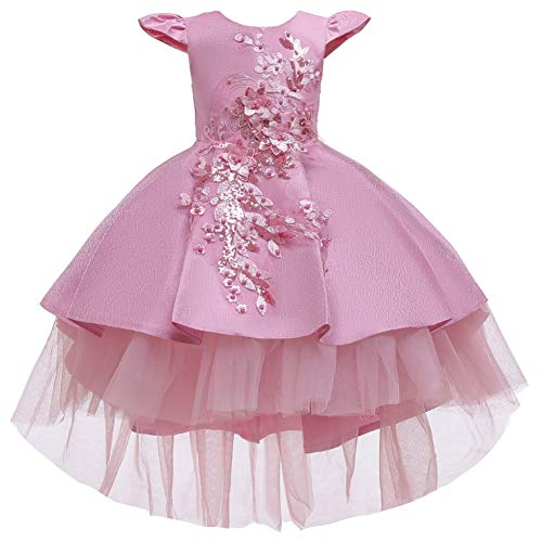 QAQWER Halloween Party Dress, Catwalk Dress Flower Girl Trailing Princess Fluffy Piano kostuum bruidsjurk voor kinderen