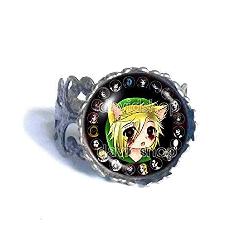 Handmade Fashion Jewelry Creepypasta Creepy Pasta TICCI Toby Ring Eyeless Jack Cute Ben is Back Cosplay