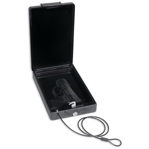 3. Bulldog Cases Car Safe with Key Lock, Mounting Bracket and Cable in Black