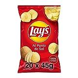 Pack 20 Bolsas de Lay's Patatas Fritas Al Punto de Sal, clásicas patatas crujientes, 20 x 44 g, 880 g