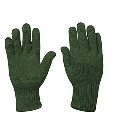 US Army Military Genuine Issue GI Men's Wool Nylon Blend Cold Weather Snow Winter Tactical Gloves (X-Large, OD Green)