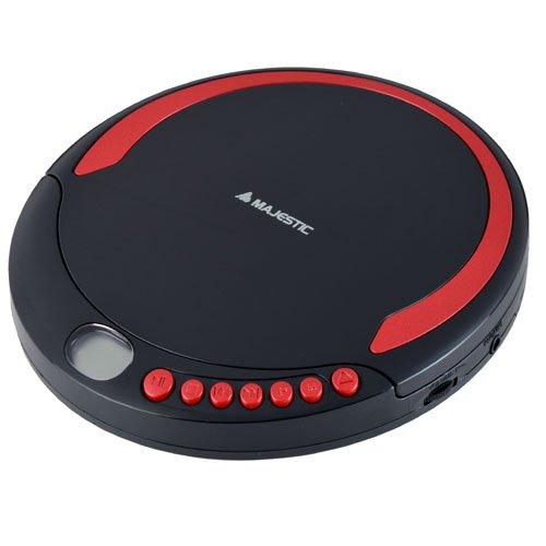 Majestic DM 1550 MP3 - Lettore CD/MP3 Portatile, Nero/Rosso