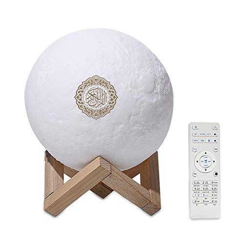 Preisvergleich Produktbild Bluetooth LED Mond Lampe,  Bunte Fernbedienung Kleine Mondlicht Led Nachtlicht Mond Lampe Mondlicht Drahtlose Koran Lautsprecher.
