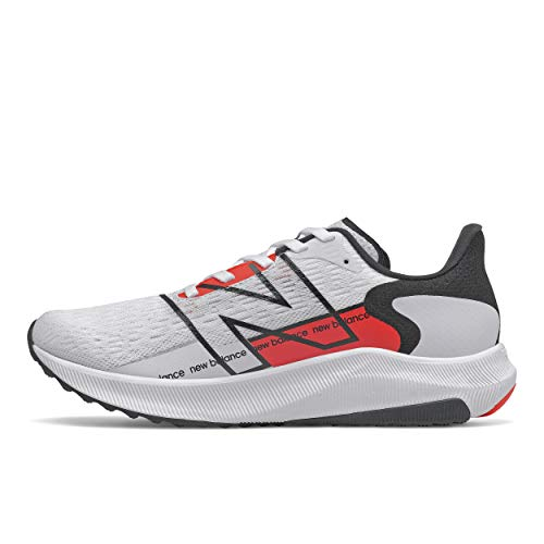 New Balance Women's FuelCell Propel V2 Running Shoe, White/Black/Red, 9