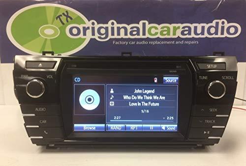 2014 2015 2016 Toyota Corolla OEM HD AM FM XM Radio CD MP3 Player Touchscreen Bluetooth Receiver