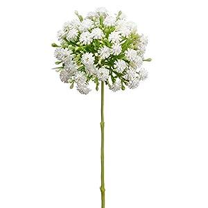 9.5″ Silk Snowball Flower Stem -White (Pack of 24)