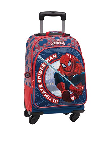 Disney Zaino Trolley Spiderman Multicolore