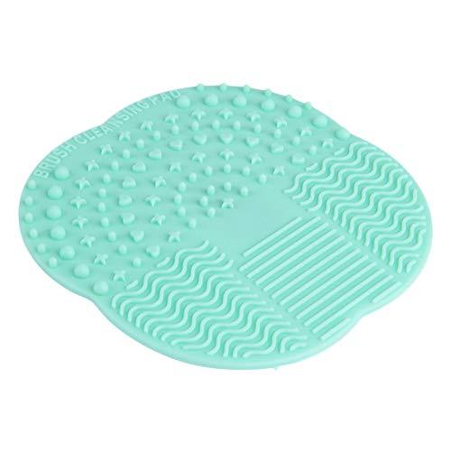 #N/V Limpiador de brochas de maquillaje de silicona circular, de 9 cm x 9 cm, para uso doméstico y viajes