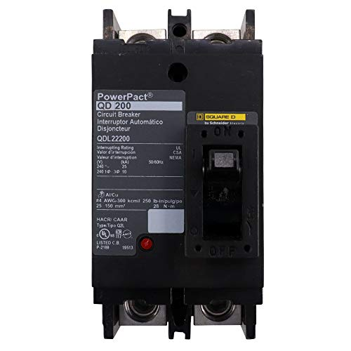 Schneider Electric QDL22200 PowerPact Q - molded case circuit breaker - 2-pole - 25 kA - 240 V - 200 A
