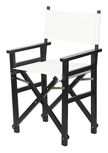 YANGYUAN Sillas plegables de lona de madera maciza, silla directora de pesca al aire libre, jardín, camping al aire libre (color negro, tamaño: tela negra)