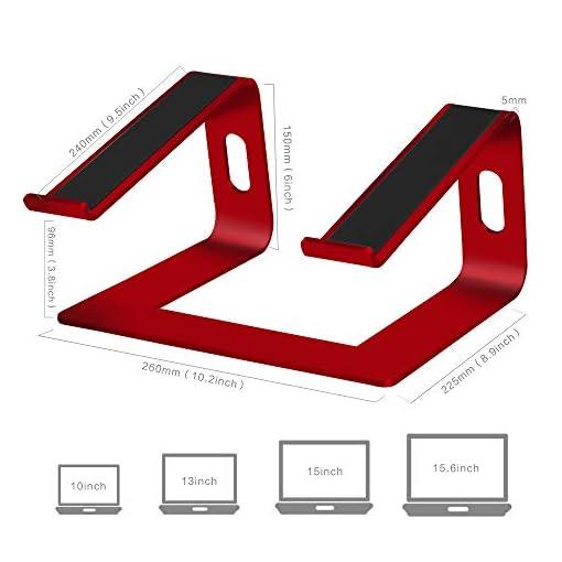 SOUNDANCE Soporte para Portátil, Soporte Ordenadores Portátiles, Soporte para Laptop de Aluminio, Bases de Portátiles… 3