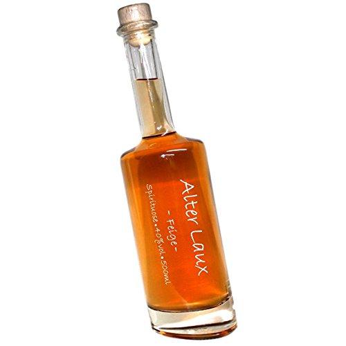 Alter Laux Feige -500ml- 40% Obstspirituose | in einer formschönen schrägen Flasche | mit Hand beschrieben