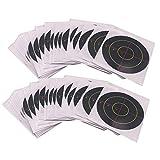 perfeclan 100 Stück Papier Zielscheiben Bogenschießen Zielpapier Papierauflage Bogenschießscheibe Bogen Ziel, Durchmesser: ca. 7,5 cm