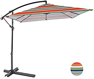YXZQ Outdoor Umbrella Garden Umbrella Umbrella Market Outdoor Table Umbrella Patio Umbrella Push Button Terrace Umbrella Beach Umbrella 2.4 * 2.4m LDFZ
