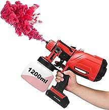 TOPQSC Draadloze elektrische spuitpistool, met verlichting, met 3 sproeimodi, geschikt voor het sproeien van muren en vers...