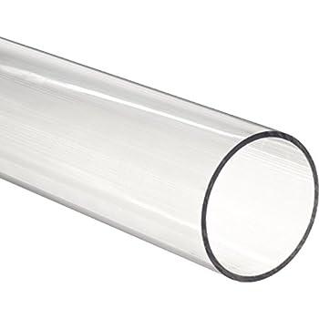 Acrylic Rigid Round Tube Clear 2-1/2  ID 2-3/4  OD x 24  Length