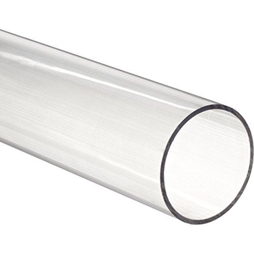 "Acrylic Rigid Round Tube, Clear, 5-3/4"" ID 6"" OD x 12"" Length"