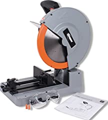 Low speed, high torque motor Powerful 2200 watt motor Cuts 0-45 degrees Heavy duty base; use Slugger blades to optimize results 14-inches Blade diameter