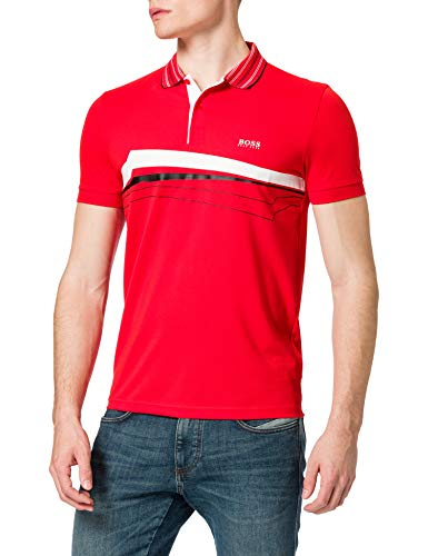 BOSS Paule 8 10226584 01 Camisa de Polo, Talla Mediana Red618, M para Hombre