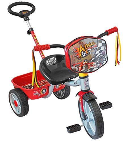 Apache | Triciclo Ride On | para Niños de 2 a 5 Años | Modelo R12 | Diseño Racing | Color Rojo |…