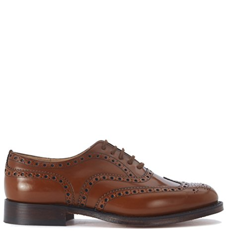 CHURCH'S Burwood 81 Sandalwood Polished Binder brogue stringata pelle...