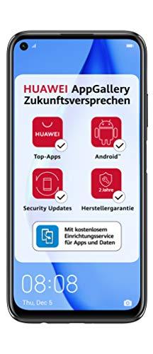HUAWEI P40 lite Dual-SIM Smartphone B&le (16 cm (6,4 Zoll), 128 GB interner Speicher, Android 10.0 AOSP ohne Google Play Store, EMUI 10.0.1) midnight black [Exklusiv +5EUR Amazon Gutschein]