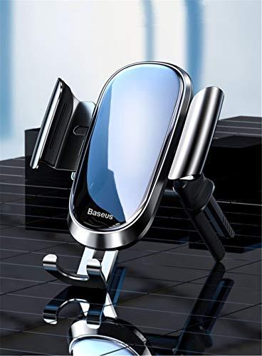 Jsx Soporte para teléfono del Coche, Soporte de Coche de Salida de Aire Redondo de Silicona Suave, se Puede Girar 360 Grados, Adecuado para Varios teléfonos móviles con múltiples ángulos de visión