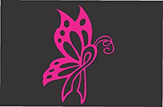 Butterfly Ribbon Pink- Die Cut Vinyl Window Decal/sticker for Car or Truck 5