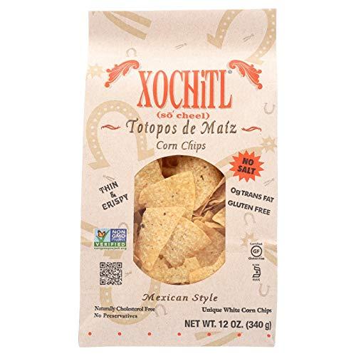 Xochitl No Salt Corn Chips, 12 Ounce (Pack of 10)