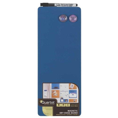 Quartet Magnetic Dry-Erase Board Tile, 5 1/2 x 14 Inches, Frameless, Blue (48111-BU)