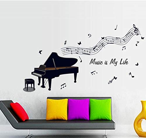 sufengshop DIY Home Decor removbale Piano Notes Music Room Art Muursticker PVC decalsvinyl Muurstickers