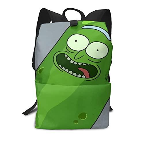 Pickle Rick - Mochila escolar unisex para niño y niña