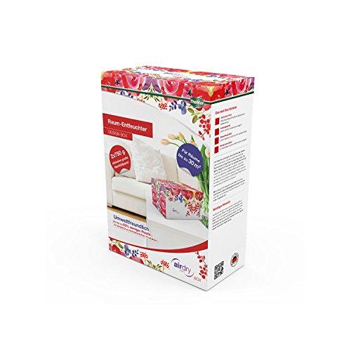 ThoMar airdry DESIGN BOX FLOWER   Raum-Entfeuchter   Schutz vor Feuchtigkeit und Schimmel   schafft gesundes Raumklima   Trend-Design für Ihr Interieur