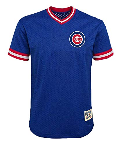 Kris Bryant Chicago Cubs #17 Blue Youth Cooperstown V-Neck Mesh Jersey (Large 14/16)