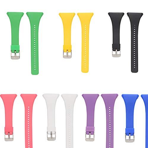 ibasenice - Cinturino di ricambio per orologio Polar FT4 FT7, in silicone, con chiusura rapida, compatibile con Polar ft4 ft7 Smart Watch (viola)